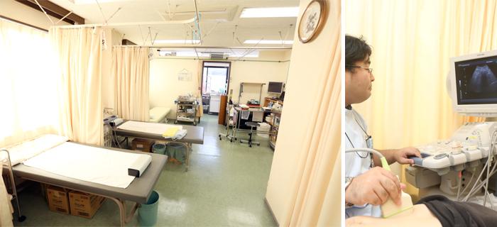 点滴処置室(エコー検査室)